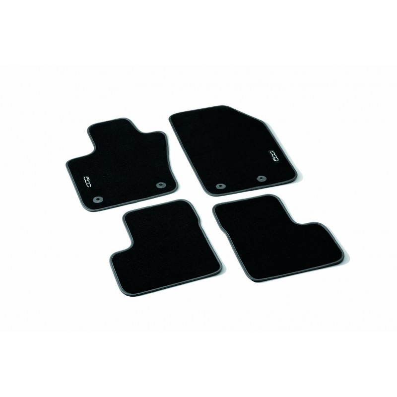 tapis velours fiat 500x logo m tallique. Black Bedroom Furniture Sets. Home Design Ideas
