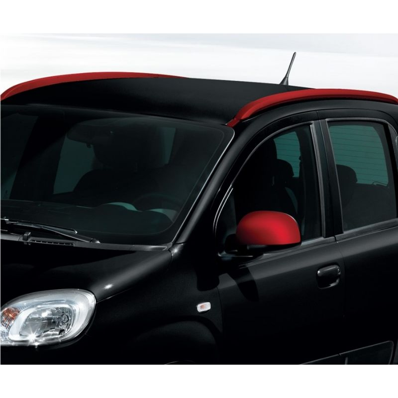 barres de toit longitudinales fiat panda rouge vif. Black Bedroom Furniture Sets. Home Design Ideas