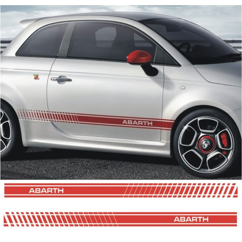 sticker lat ral droit 500 abarth noir mat. Black Bedroom Furniture Sets. Home Design Ideas