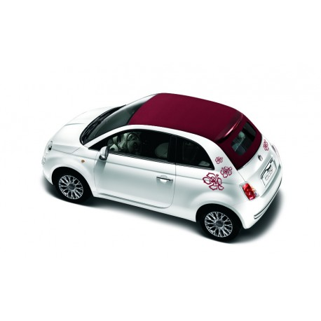 stickers fiat 500 fleurs m tallis gris fonc. Black Bedroom Furniture Sets. Home Design Ideas
