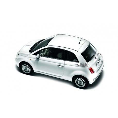 stickers fiat 500 roma noir. Black Bedroom Furniture Sets. Home Design Ideas