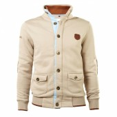 SWEAT HOMME A BOUTONS HERITAGE ABARTH BEIGE (L)