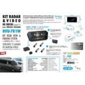 Kit radar & vidéo de recul avec écran rétroviseur LED 7