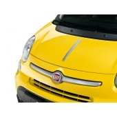BARRE CHROME SATINE SUR CAPOT FIAT 500L TREKKING